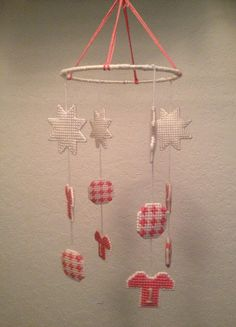 Soccer Theme for Baby Girl Mobile in Plastic Canvas