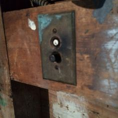 Push button light switch mid 1920s.  I remember these in my Grandparents home.  Loved them!  =)