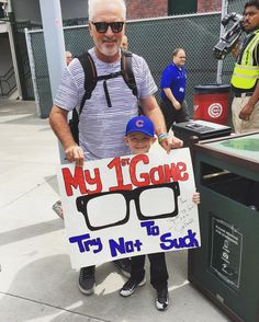 #JoeMaddon #Trynottosuck #GoCubsGo • photo by @maddon_bystry
