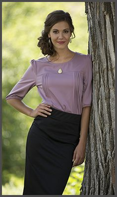 Perfectly Polished Top [MTF1003] - $49.99 : Mikarose Fashion, Reinventing Modest Fashion