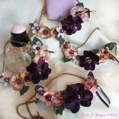 Pansy necklaces are elegant and unique. Made to order in many colors https://www.etsy.com/uk/shop/CraftyJoDesigns?section_id=15723646&ref=shopsection_leftnav_3