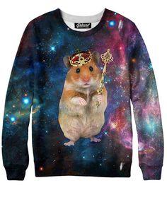 Hamster King Sweatshirt  More at: http://livinglearningandloving.com/things-we-like-and-love/