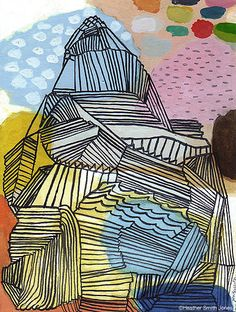 Abstract drawings by Heather Smith Jones