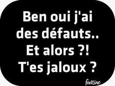Ah yeah, I have faults. You jealous? French Words, French Quotes, French Expressions, Bad Mood, True Stories, Positive Quotes, Funny Quotes, Jokes, Positivity
