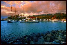 Picture Of Lahaina Harbour At Sunset - Photos of Hawaii Pictures