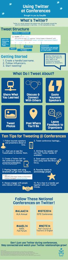 Use Twitter to your advantage at conferences. #socialmedia #conferences