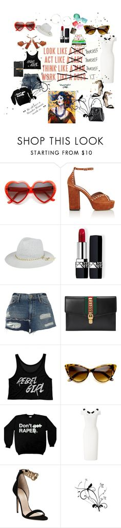 """Good Tuesday dear magical Polyvorians ❤️😘😉Be Yourself ❤️✊️"" by maijah ❤ liked on Polyvore featuring Tabitha Simmons, Christian Dior, River Island, Gucci, Roland Mouret, Chanel, Hickey and Versace"