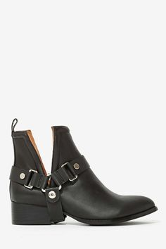 Jeffrey Campbell Musk Harness Leather Boot | Shop Boots at Nasty Gal