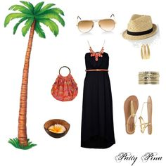 Vacation outfit for traveling to Maui.
