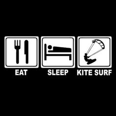 EAT-SLEEP-KITE-SURF-board-surfer-kitesurf-kiteboard-bag-wetsuit-helmet-T-SHIRT