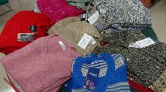 Bright colors in ladies sweaters for holiday wear