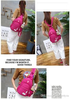 Newest Version Chest Travel Bag Wholesale Backpack Outdoor Sports Korean Girl Backpack Messenger Bag with PU Zipper Girl Backpack Womens Backpack Womens Messenger Bag Online with $15.98/Piece on Bestfor4you's Store | DHgate.com