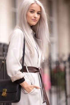 This Aquascutum trench was definitely a must for day one of London Fashion Week! How amazing is the brown leather statement belt?