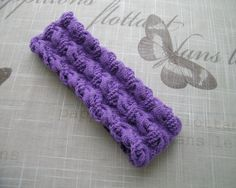Merino wool Hand-Knitted purple/ lavender HEADBAND, earwarmer Cable Knit fancy pattern, Birthday, Christmas gift idea by LinaGifts on Etsy