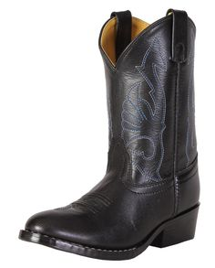 73a0b2acb418 Smoky Mountain Kids' Leather Western Dress Boot - Child - Black - 11.  Western