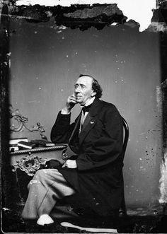 Portræt af H.C. Andersen foto. Harald Paetz aftryk efter originalnegativ