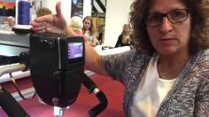 Elly on the BERNINA Q24 longarm - Festival of Quilts 2015
