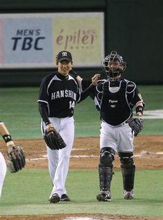 Atsushi Nohmi and Akihito Fujii (Hanshin Tigers)