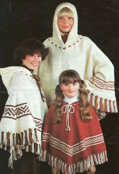 These hooded ponchos would be fun for the family for camping.