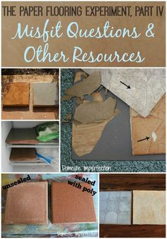 The Paper Flooring Experiment, Part IV - Misfit Questions & Other Resources - Domestic Imperfection Diy Wood Floors, Diy Flooring, Painted Floors, Plank Flooring, Flooring Ideas, Brown Paper Bag Floor, Paper Bag Flooring, Backyard Plan, Diy Living Room Decor