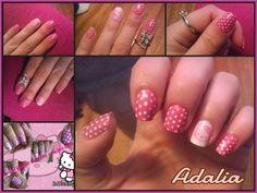Hello Kitty, uno de mis diseños favoritos, me las hice para un concurso en facebook.