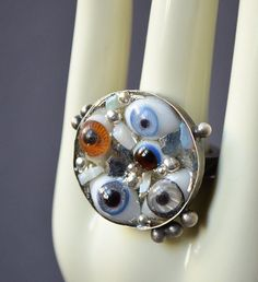 All Eyes Seer Ring Made With Doll Glass Eyes by dolldisasterdesign, $145.00