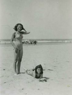 Margot and Anne Frank before their nightmare began.