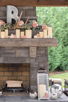 Unlike some ubiquitous wedding details, monograms are especially symbolic and significant. Church Wedding Flowers, Flower Bouquet Wedding, Floral Wedding, Diy Wedding, Wedding Colors, Wedding Ideas, Wedding Fireplace, Fireplace Mantel, Monogram Wedding