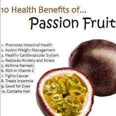 Best tasting fruit there is, passion fruit!