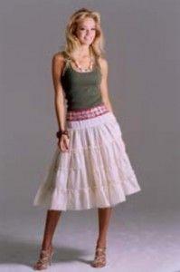 Tiered Peasant Skirt - Anleitung für einen Stufenrock