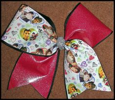 OOAK 3 One Direction 1d cheer bow by Kreationz4kidzdotcom on Etsy, $13.50