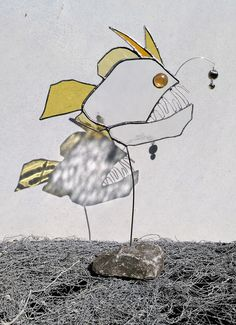 Deko-Objekte - Anglerfish in Tiffany Art als Standbild - ein Designerstück von Die-Glasscherbe-Melanie-Bujacz bei DaWanda