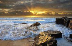 Seascape Photography - Kieran O'Connor Photography - Golden Light Seascape