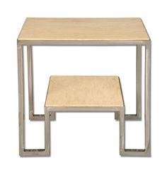 """Wooten Side Table   Dimensions 26""""H x 26""""W x 16""""D   Custom Sizing Available   45 Unique Hand-Applied Finishes   Made in USA"""