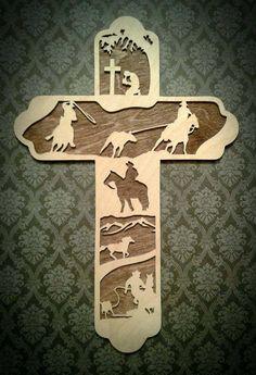 Roping Cross Cowboy Gift Team Roper Cross Tie by BriarBeachDesigns