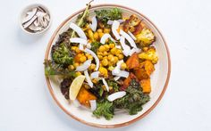 Curried Roasted Chickpeas and Sweet Potatoes