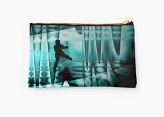 Climbing the frozen waterfall by mindgoop studio pouches (various sizes)
