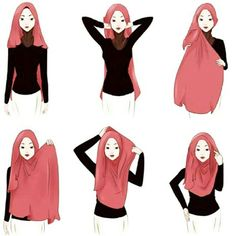 """Shawl Tutorial ❤ Credit to the original owner of the tutorial. Selamat mencuba!  #simplehijab #shawltutorial #shawltutorials #hijabtutorial…"""