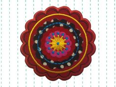 "Iron+on+Applique+Red+Boho+Flower+Patch+by+twinklespatches+on+Etsy 3.15"" $6"