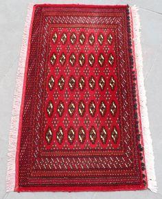 Turkoman Rug 20''x40'' Hand Woven Mini Carpet 53x103cm ID:S0305