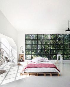 Unusual decorated bedroom