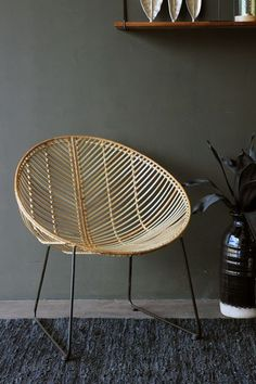 I really love the Eryn Natural Rattan Chair Wicker is in demand and the beautiful natural looks of the chair creates a authentic outdoor look -