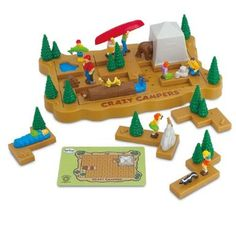 Amazon.com: Popular Playthings Crazy Campers Puzzle: Toys & Games