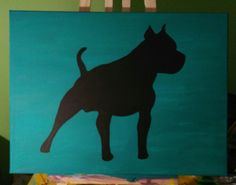 Siluett dog staford acryl