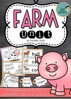 Farm Unit Activities and Printables: K-2 Miss Jacobs' Little Learners