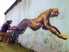 Quand le dessin échappe à son créateur... / Street art.