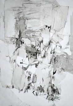 "Saatchi Art Artist Dorota Jedrusik; Drawing, ""ice 003"" #art"