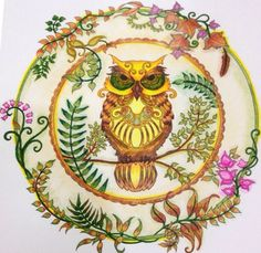 From Enchanted Forest By Johanna Basford Hand Colored Me Using Prismacolor Pencils