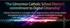 The Edmonton Catholic Schools Digital Citizenship landing page - a great resource for multiple digital citizenship issues, including cyberbullying.
