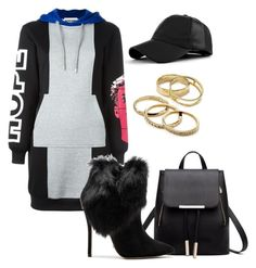 """Untitled #2775"" by thestylegosssip ❤ liked on Polyvore featuring Moschino, Schutz and Kendra Scott"